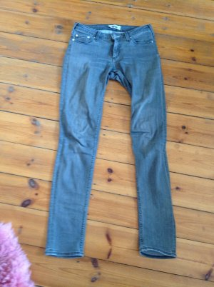 Acne Skinny Jeans silver-colored cotton