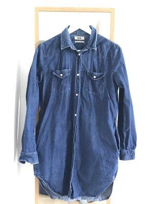Acne Chemise en jean bleu foncé