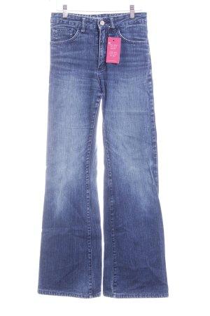 Acne Jeansschlaghose blau Jeans-Optik