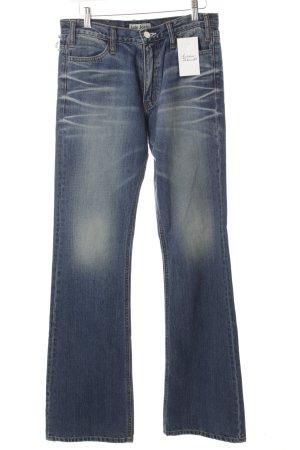 Acne Jeansschlaghose blau Retro-Look