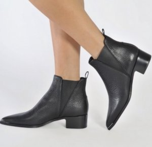 Acne Bottines noir cuir