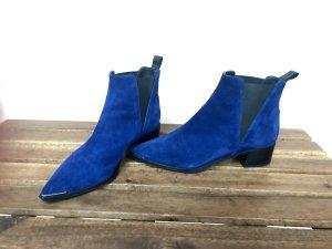 Acne Jensen Boots Gr.37 neu blau Chelsea Boots Spitz Absatz Silber