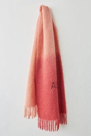 Acne Sciarpa di lana rosso lampone-rosa Tessuto misto