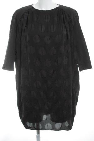 Acne Robe à manches longues noir motif de tache style romantique