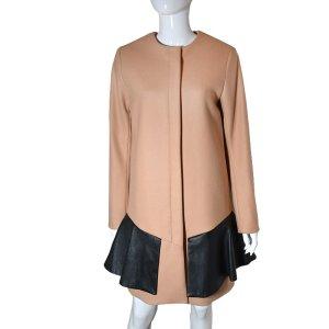 Acne Mantel aus Wolle und Leder, Gr. 36