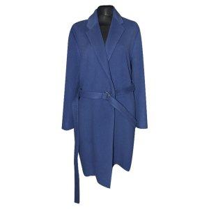 Acne Mantel mit Taillengürtel, Blau, Gr. 36
