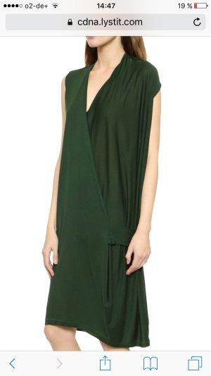 Acne Natifa Tencel Draped Dress - Forest Green M