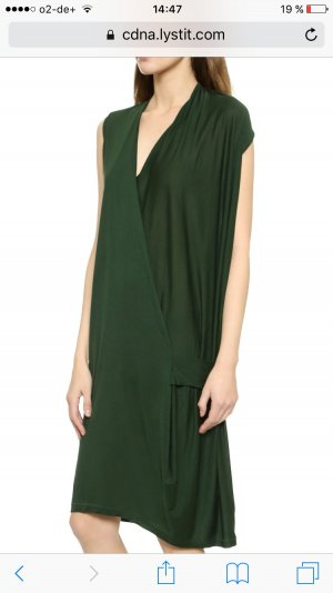 Acne Natifa Tencel Draped Dress - Forest Green M