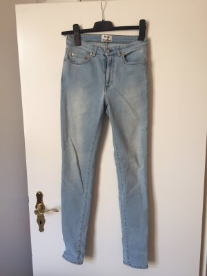 Acne Hoge taille jeans azuur-blauw