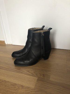 Acne Pistol Boots 40 schwarz Glatt Leder