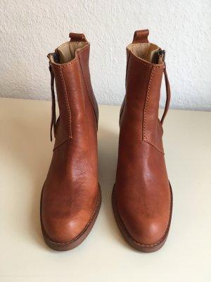 ACNE Pistol Boots Stiefeletten | cognac braun Chestnut Leder Glattleder | 40 NEU
