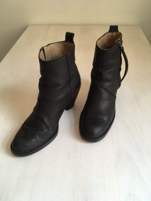 ACNE Pistol Boots Stiefeletten | schwarz Leder Glattleder | 39