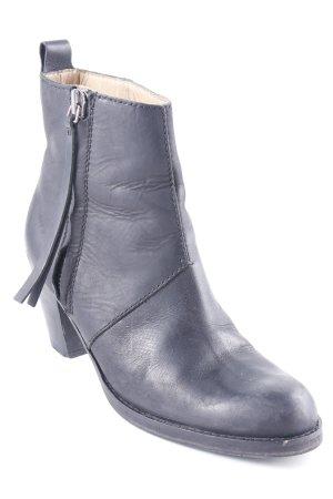 Acne Plateau-Stiefeletten schwarz Street-Fashion-Look