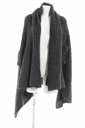 Acne Poncho dark grey fluffy