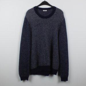 Acne Pullover Gr. L blau weiß gemustert (18/11/268)