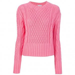Acne Pullover Lia rosa pink Sweater Cable Jumper