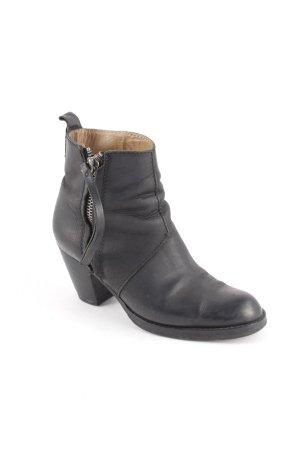 Acne Stivaletto con zip nero stile da moda di strada