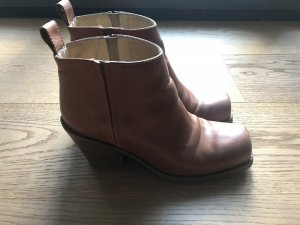 Acne Rider Low Ankleboots Stiefel Camel