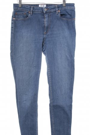 Acne Jeans cigarette bleu style simple