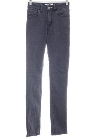 Acne Jeans a sigaretta grigio scuro stile casual