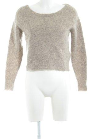 Acne Maglione girocollo marrone-grigio stile casual