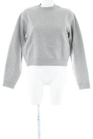 Acne Kraagloze sweater lichtgrijs klassieke stijl