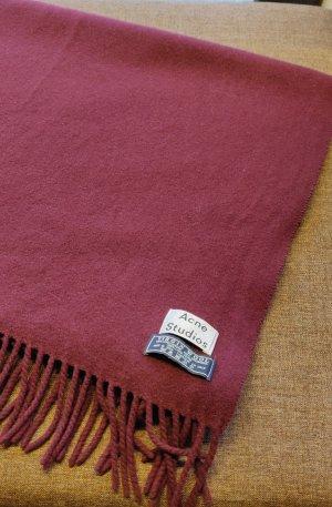 Acne Woolen Scarf bordeaux