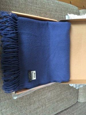 Acne Sciarpa di lana blu acciaio Lana
