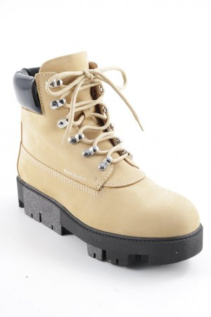 Acne Lace-up Boots sand brown-black casual look