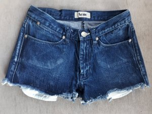 Acne Shorts blu scuro Cotone