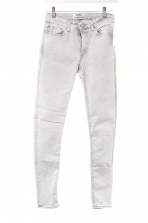 Acne Jeans skinny gris clair style décontracté