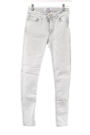 Acne Skinny Jeans hellgrau Casual-Look