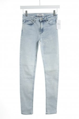 Acne Skinny Jeans azure-dark blue acid wash