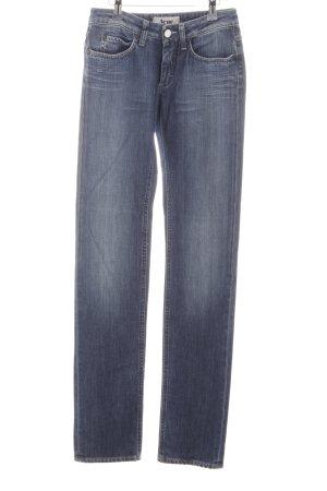 Acne Slim Jeans dunkelblau-blassblau Jeans-Optik