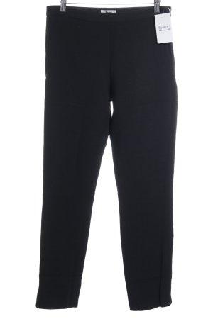 Acne Pantalone jersey nero stile classico