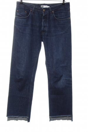 Acne Straight-Leg Jeans blau Casual-Look