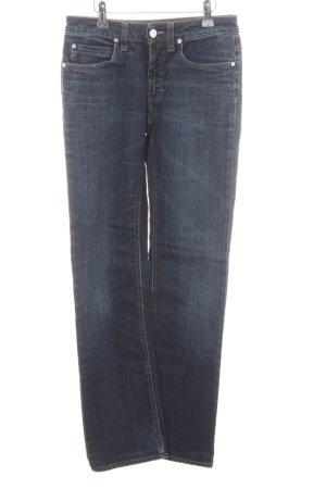 Acne Jeans a gamba dritta blu scuro-blu acciaio stile casual