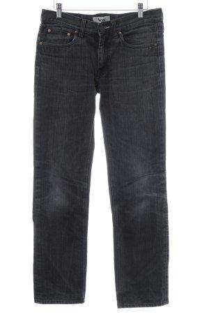 Acne Straight Leg Jeans dark grey cotton