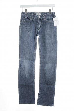 Acne Straight-Leg Jeans stahlblau Casual-Look
