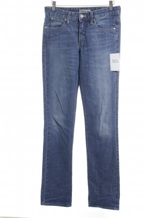 Acne Straight Leg Jeans steel blue casual look