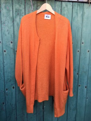 Acne Veste en tricot orange