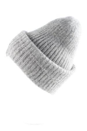 Acne Chapeau en tricot gris Motif BD style patineur