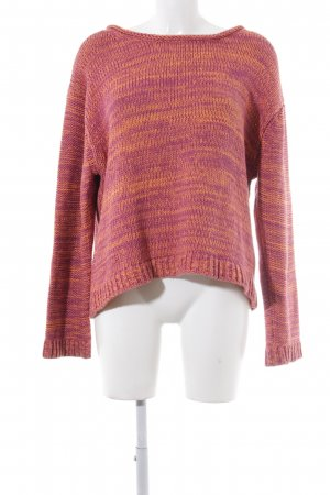 Acne Strickpullover lila-orange Webmuster Casual-Look