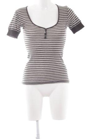 Acne T-shirts en mailles tricotées gris clair-gris foncé motif rayé