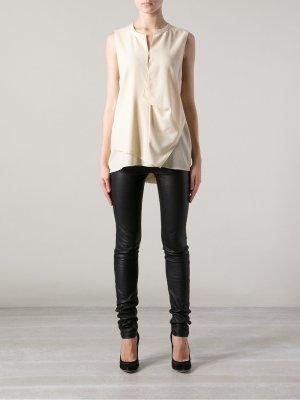 Acne Strike Top Shirt M 38 neu Lyocell creme Bluse