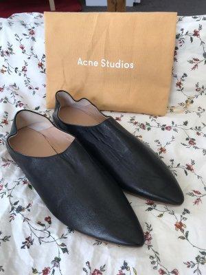 Acne Sabots black leather