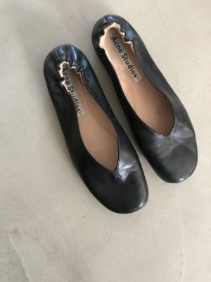 Acne Slingback Ballerinas black