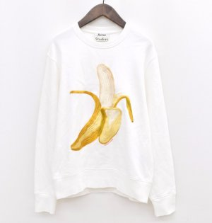 Acne Studios Banana Sweater in Weiß Größe L Banane Pullover Sweatshirt