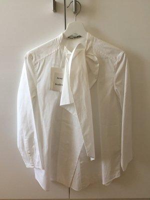 Acne Blusa ancha blanco Algodón