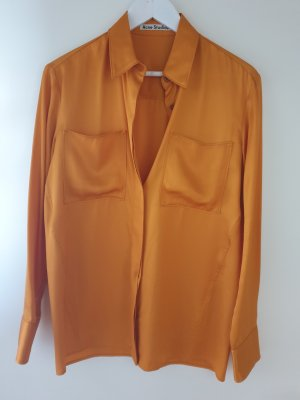 Acne Long Sleeve Blouse orange viscose